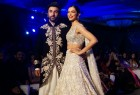 """Bollywood actors Deepika Padukone and Ranbir Kapoor set the ramp on fire at """"The Walk of Mijwan"""" on Thursday night flaunting the outfit designed by ace designer Manish Malhotra. The duo looked stunning as showstopper, wearing beautifully embroiders dress from the collection of Manish. Ranbir dressed in black floral embroider sherwani and Deepika wore a pearlescent lehenga designed with heritage embroidery that celebrated the craft of needle."""