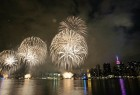 Fireworks illuminate the sky over Manhattan on July 4, 2015 in New York to celebrate Independence Day. The US is ramping up security across the country and urging people to stay alert over the Independence Day holiday weekend over fears of a terrorist threat. AFP PHOTO/JEWEL SAMAD