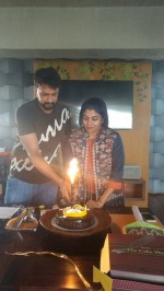 Kiccha Sudeep and Priya celebrate Wedding Anniversary with The Villain Team