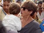 Shah Rukh Khan spotted with son AbRam at Kolkata airport