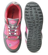 Pink and grey colourblocked sneakers