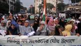 穆斯林兄弟会的集会成员在集会上抗议