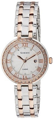 Casio Sheen Silver Dial Analog Watch for Women