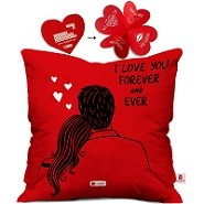 Romantic Cushion Cover with Filler