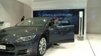 Tesla's electric cars join the luxury Paris Motor Show