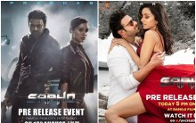 Saaho pre-release event poster