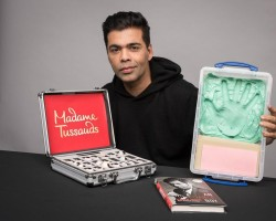 "Filmmaker Karan Johar says he feels honoured to be the first filmmaker from India to have a wax statue at the Madame Tussauds. Karan on Thursday tweeted a photograph of himself, holding a briefcase in one hand and a wax imprint of his palm on the other hand. A copy of his biography ""An Unsuitable Boy"" is also seen kept in front of him. ""Honoured to be the first filmmaker from India at the prestigious Madame Tussauds. Thank you to the entire team in London who worked tirelessly... Will have further details about when and where soon! Madame Tussauds,"" he captioned the image."