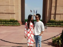 LoveYatri: It's a sunny day out for Aayush Sharma and Warina Hussain at Delhi