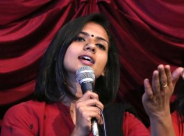 Sruthi Hariharan addresses a press conference