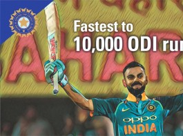 King Virat Kohli pips Sachin Tendulkar to become fastest to 10,000 ODI runs