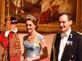 Kate Middleton wears Princess Diana's iconic Tiara to state dinner at Buckingham Palace