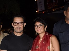 Aamir Khan with wife Kiran Rao snapped at 40th Prithvi theatre festival