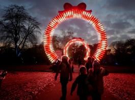 Christmas at Kew Gardens, London