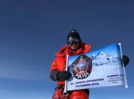 SP Radhika GR Atop Mount Vinson