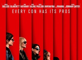 The new poster of the Warner Bros film shows the characters lined up in profile, all wearing dark overcoats and shades. Under the powerfully stylish shots of the eight female stars, it simply reads: