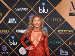 Khloe Terae attends the 2018 Maxim Party co-sponsored by blu February 3, 2018 in Minneapolis, Minnesota.