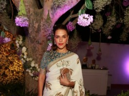 Actress Neha Dhupia at a multi designer store launch, in New Delhi on March 6, 2017.
