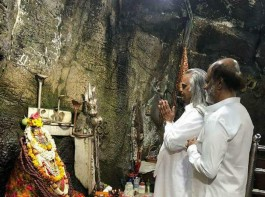 Superstar Rajinikanth looking calm and composed during his spiritual journey at Himalayas!