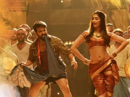 Rangasthalam item song Jigelu Rani: Actress Pooja Hegde starring in the song with actor Ram Charan.