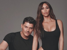 The 37-year-old shared on Instagram a photograph in which she looks flawless from head to toe. Posing alongside her friend and make-up artist Mario Dedivanovic, Kim flaunts her curves in nothing but a high cut black swimsuit as she adopted a variety of poses.