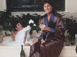 She posted a throwback photograph of Caitlyn prior to her transition from a man to a woman in 2015. In the image, Caitlyn - dressed in a silk robe - holds a glass of champagne while sitting on the edge of a bathtub where former wife Kris is appears to be nude and covered in bubbles, reports people.co.uk.