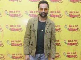 Bollywood actor Abhay Deol promotes his upcoming movie Nanu Ki Jaanu at Radio Mirchi studio in Mumbai, which also stars Patralekhaa.