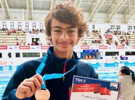 Actor R. Madhavan's 12-year-old son won a bronze medal for India in the 1500 meter freestyle at the Thailand Age Group Swimming Championship 2018. Madhavan announced the news on Instagram on Monday.