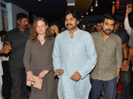 The bond between actor Pawan Kalyan and his nephew Ram Charan seems to be growing stronger. Janasena Chief Pawan recently watched Charan's Rangasthalam movie with his family at Imax, Hyderabad. He also appreciated his nephew's performance in Rangasthalam.