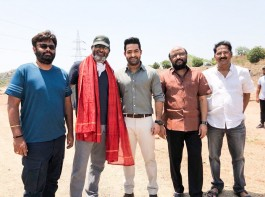The principal shooting of Jr NTR's new project, tentatively titled as NTR 28. The shoot began with an action sequence and a massive set has already erected for the shoot in Ramoji Film City.