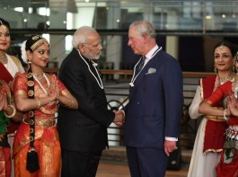 Indian Prime Minister Narendra Modi welcomed Prince Charles at