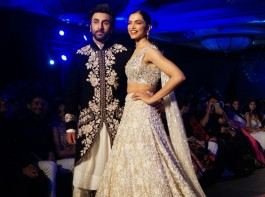 Bollywood actors Deepika Padukone and Ranbir Kapoor set the ramp on fire at