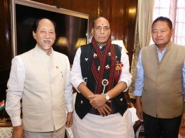 "Nagaland Chief Minister Neiphiu Rio called on the Union Home Minister Rajnath Singh here on Thursday and discussed issues related to development as well as support for improvement of police infrastructure in the state, an official statement said. ""The Chief Minister apprised the Union Home Minister about the situation in the state and the issues on which it requires support of the Centre such as improvement of police infrastructure,"" a Home Ministry statement said."