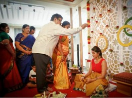 Sandalwood actor Chiranjeevi Sarja and Meghana Raj are all set to tie the knot on May 2, 2018. Meghana's family hosted a grand Mehendi ceremony last night and the bride-to-be looks cute. The wedding will be held as per Hindu as well as Christian customs. Meghana Raj's family hosted a grand Mehendi ceremony last night and the bride looks cute. She will marry her boyfriend and actor Chiranjeevi Sarja on May 2 at the Palace Grounds. The couple will first tie the knot as per the Christian customs and later they will exchange wedding vows as per the Hindu rituals. They have planned for a grand wedding reception on May 2 which will be graced by the film industry.