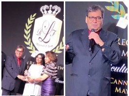 Iconic actress Sridevi was posthumously honoured at the 71st Cannes Film Festival. Filmmaker Subhash Ghai, who received the award on her behalf, says he felt honoured. Sridevi was honoured with the TITAN Reginald F. Lewis Film Icon Award, which celebrates women of the film industry all over the world and also salutes the multicultural impact on the film industry. Ghai shared a few photographs of himself while receiving the award on Twitter and captioned it: