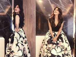 Actress turned producer Chitrangda Singh has time and again impressed us with her style and choice of clothing. Yet again the actress set the mercury rising with her ultra hot avatar. At a recent event, Chitrangda Singh grabbed eyeballs in a Kanika Jain Singh creation. Dressed in a black top and floral printed skirt, the actress made a stunning appearance. With minimal makeup and wavy open hair, Chitrangda Singh stole the show with her alluring beauty. It was a black color dress with a plain top and floral printed skirt. With minimal makeup and the perfect pouty lips, the actress made the dress look stunning on her. Her open hair added up to the look and made her look flawless.