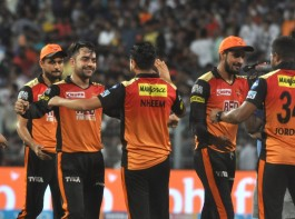 Afghanistan spinner Rashid Khan starred with bat and ball to help Sunrisers Hyderabad (SRH) fix a date with Chennai Super Kings (CSK) in Sunday's final after beating Kolkata Knight Riders (KKR) by 13 runs in the Indian Premier League (IPL) Qualifier 2 at the Eden Gardens here on Friday. Sunrisers will take on CSK in the summit clash at the Wankhede Stadium in Mumbai on Sunday. Chasing 175 for victory, KKR were blown away by Rashid's brilliance before Shubman Gill (30; 20b; 2x4, 1x6) batted brilliantly to take the game till the last over when 19 runs were needed off six balls. Shivam Mavi (6) hit a four off Carlos Brathwaite before picking out Rashid at deep midwicket. In the next ball, Rashid was in the thick of things again, taking Gill's catch to end their fight as KKR finished on 161/9 in 20 overs. Rashid first smashed a whirlwind 10-ball 34 to pull Sunrisers out of a hole and propel them to 174/7 before returning spectacular figures of 3/19 in four overs as the Kane Williamson-led franchise made their second IPL final. Rashid gave away just three runs in the first over and accounted for Robin Uthappa (2) in the very first ball of his second over. The 19-year old then trapped KKR's highest scorer Chris Lynn (48; 31b; 6x4, 2x6) in front to reduce the purple brigade to 108/5 from 93/2 in 10 overs. In his last over, Rashid outfoxed Andre Russell (3) with a superb googly which the batsman tried to cut but ended up giving Shikhar Dhawan an easy catch at slip.