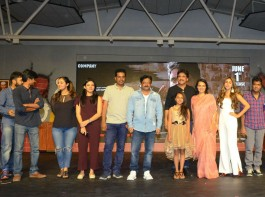 Telugu movie Officer pre-release event held at Hyderabad on May 28, 2018. Tollywood celebs like Akkineni Nagarjuna, Myra Sareen, Amala Akkineni, Naga Chaitanya, Akhil Akkineni, Music director MM Keeravani, director Ram Gopal Varma, Tanikella Bharani and others graced the event. Officer is an upcoming Telugu Action, Crime movie directed and produced by Ram Gopal Varma under R Company Production banner. The film's soundtrack album and background score were composed by Ravi Shankar. The film is set to hit the screens on June 1, 2018 and the stars are promoting it in a full swing.