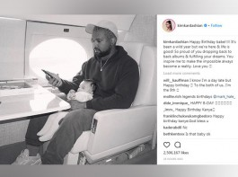 Reality star Kim Kardashian West wished husband Kanye West as he turned 41 today. The star posted a picture of the rapper on Instagram a sitting in a plane. The message read,