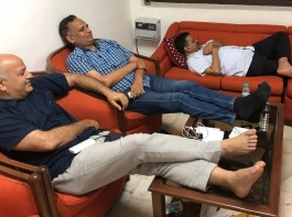 Delhi Chief Minister Arvind Kejriwal, along with his cabinet colleagues, visited Lt. Governor Anil Baijal on Monday and decided to stay in his office until their demands were accepted. The Raj Niwas called it a