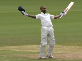 Seasoned opener Shikhar Dhawan smashed a quickfire century to help India pile 158/0 at lunch in the lop-sided opening session on day 1 of the one-off Test against debutants Afghanistan here on Thursday. At the break, Murali Vijay (41 not out) and Dhawan (104 not out) went back intact, leaving Afghanistan to rethink over their strategies in their first ever Test match. Dhawan looked in sublime touch right from the start, punishing the pace duo of Yamin Ahmadzai and Wafadar for glorious boundaries before sending his Sunrisers Hyderabad teammate Rashid Khan to the cleaners. The Delhi southpaw has now become the only Indian to score a century in the opening session of a Test match. With Vijay playing a sedate innings at the other end, Dhawan looked unstoppable and got to his seventh test ton in mere 87 balls even as the famed Afghan spin trio of Mohammed Nabi, Rashid and Mujeeb Ur Rahman seemed all at sea with this format.