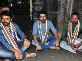 The ever charming Suriya Sivakumar and Karthi visited Simhachalam temple with Chinna Babu director Pandiraj ahead of audio launch. Chinna Babu is an upcoming Telugu movie Starring Karthi and Sayyeshaa in the lead role, while Priya Bhavani Shankar, Arthana Binu, Sathyaraj, Bhanupriya appears in the supporting role. The film's soundtrack album and background score were composed by D. Imman. The film also made in Tamil as Kadaikutty Singam. In
