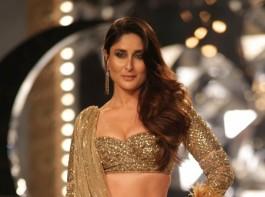 Kareena Kapoor Khan walks the ramp in 30 Kg Gold Lehenga
