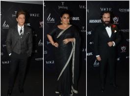 Shah Rukh Khan, Vidya Balan and Saif Ali Khan at Vogue Beauty Awards 2018
