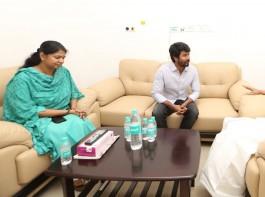 Sivakarthikeyan meets MK Stalin and Kanimozhi at Kauvery Hospital