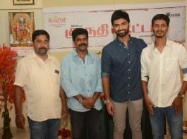 Atharvaa's Kuruthi Aatam movie launch pics