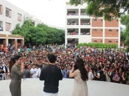 Aayush Sharma and Warina Hussain visit ITM college
