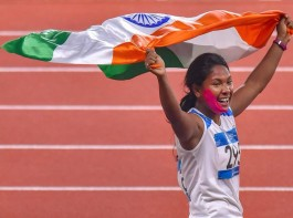 Swapna Barman bags gold in women's heptathlon