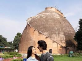 Aayush Sharma and Warina Hussain visit Heritage site in Patna