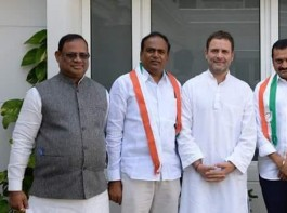 Film producer Bandla Ganesh, TRS MLC join Congress