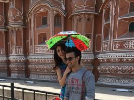 Aayush Sharma and Warina Hussain visit Jal Mahal